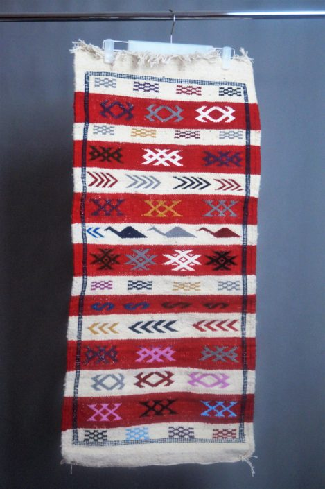 Berber kleed - Rood Wit