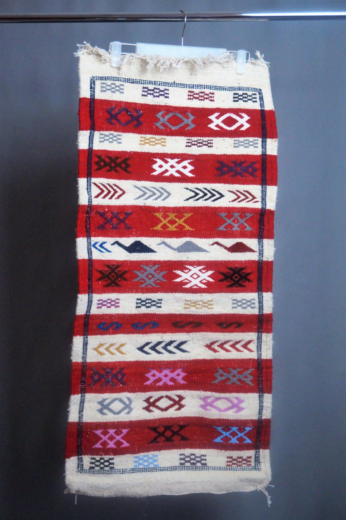 5d1d4162ff9b2b Berber kleed - Rood Wit - Ça Rout Morocco Kleding - Accessoires ...