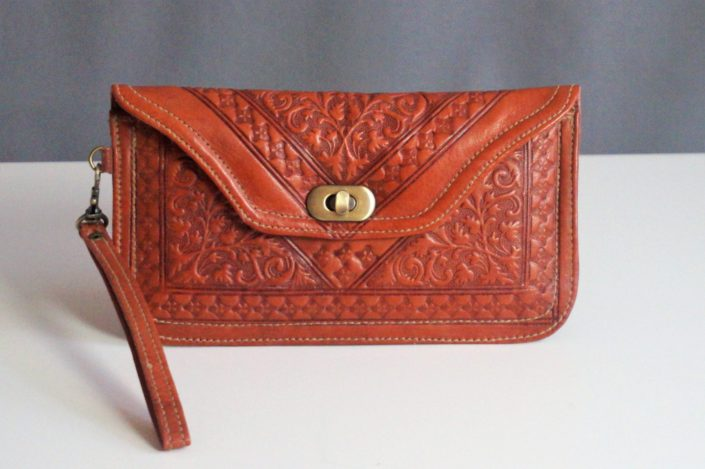 Moroccan Clutch - Roest Oranje