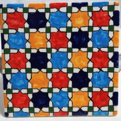 Keramiek tegel Blocks from Fez, Morocco