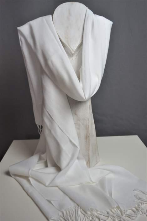 Sjaal Soena white