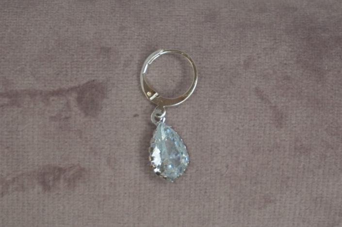 Oorbel Crystal silver