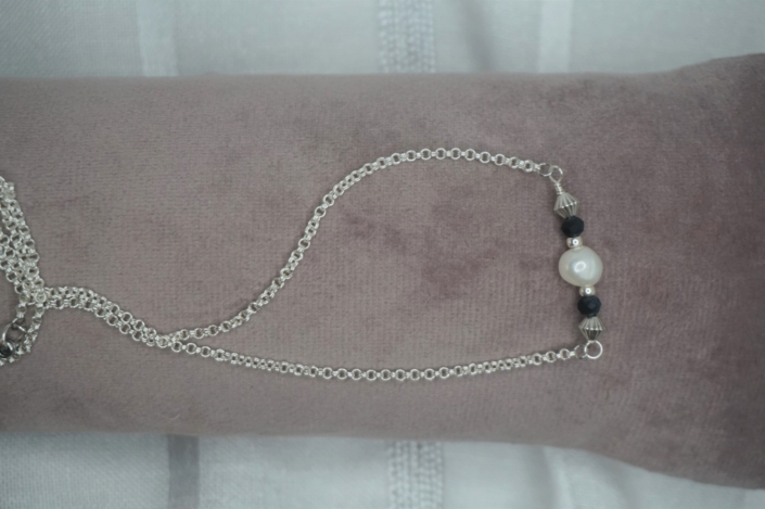 Ketting Silver Pearl